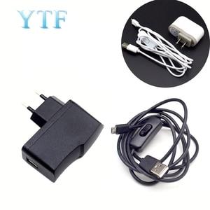 Кабель-адаптер для зарядного устройства Micro USB, импульсный источник питания для Raspberry Pi 2 3 B + B, 5 В, а и 5 В, а