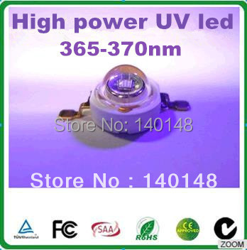 High Power Ultra Violet LED 3W 365nm UV chip original Epileds Chip 45mil 2 years warranty