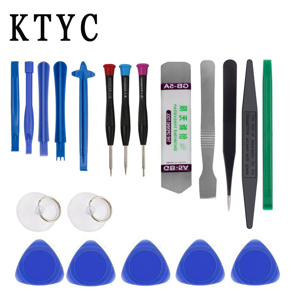20 in 1 Mobile Phone Repair Tools Kit Pry Opening Tool Screwdriver Set for iPhone iPad Samsung Cell Phone computer Hand Tool Set