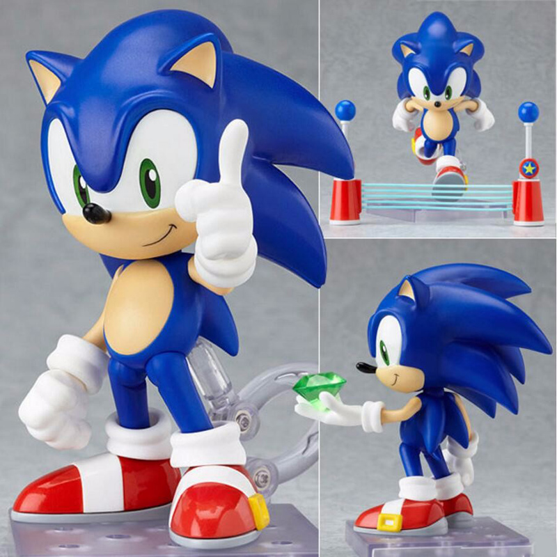 Original Box Sonic the Hedgehog Vivid Nendoroid Series PVC Action Figure Collection PVC Model Children Kids Toys Free Shipping new nendoroid 544 kirby popopo action figure toys pvc model collection christmas kids toy doll with box