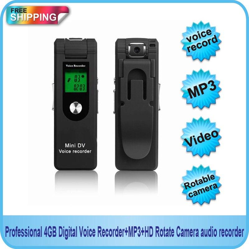 Livraison gratuite!! Enregistreur vocal numérique professionnel 4 go + MP3 + HD