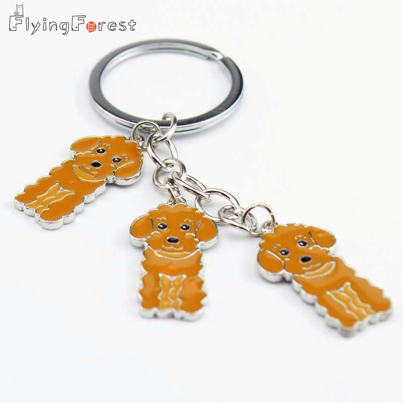 Drop Shipping DIY Pudel Schlüsselanhänger Geschenk des besten Freundes Hund PET Keyrings Weihnachtsgeschenk Modeschmuck Frau Schlüsselanhänger Hundezauber