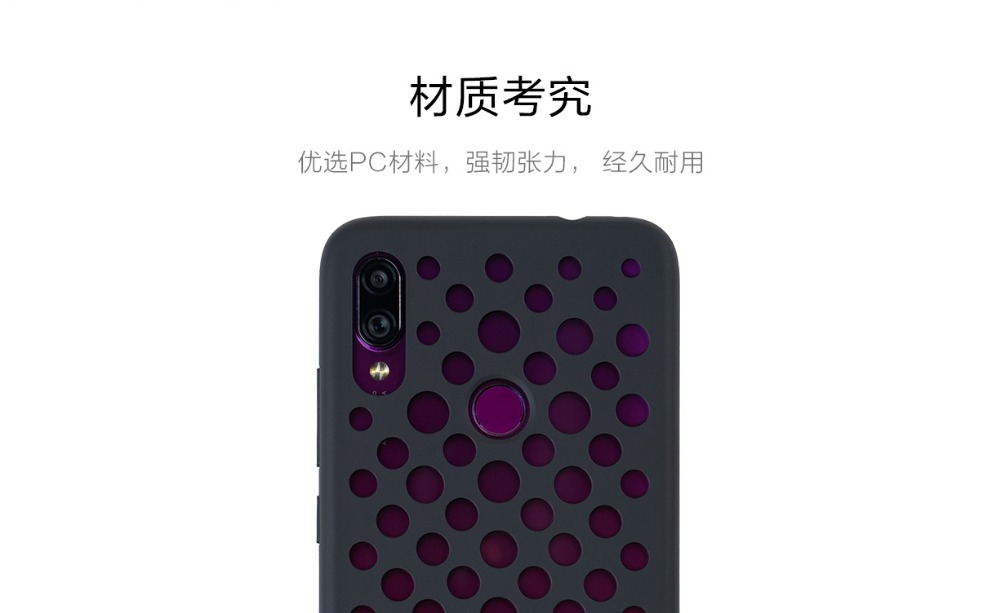 Image 4 - Original Xiaomi Redmi Note 7 Case Frosted Shield Luxury PC Matte Hard Shell Phone Case Cover for Xiaomi Redmi Note 7 hollow hole-in Fitted Cases from Cellphones & Telecommunications