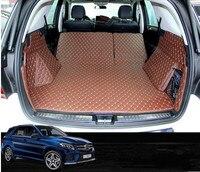 Goede matten! speciale kofferbak matten voor Mercedes Benz ML 300 W166 2015 2012 duurzaam cargo liner tapijten voor ML300 2014  gratis verzending op