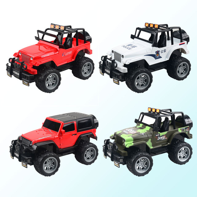 Rc Off Road Car Toy Model Cross Country Racing Police Vehicle Kids