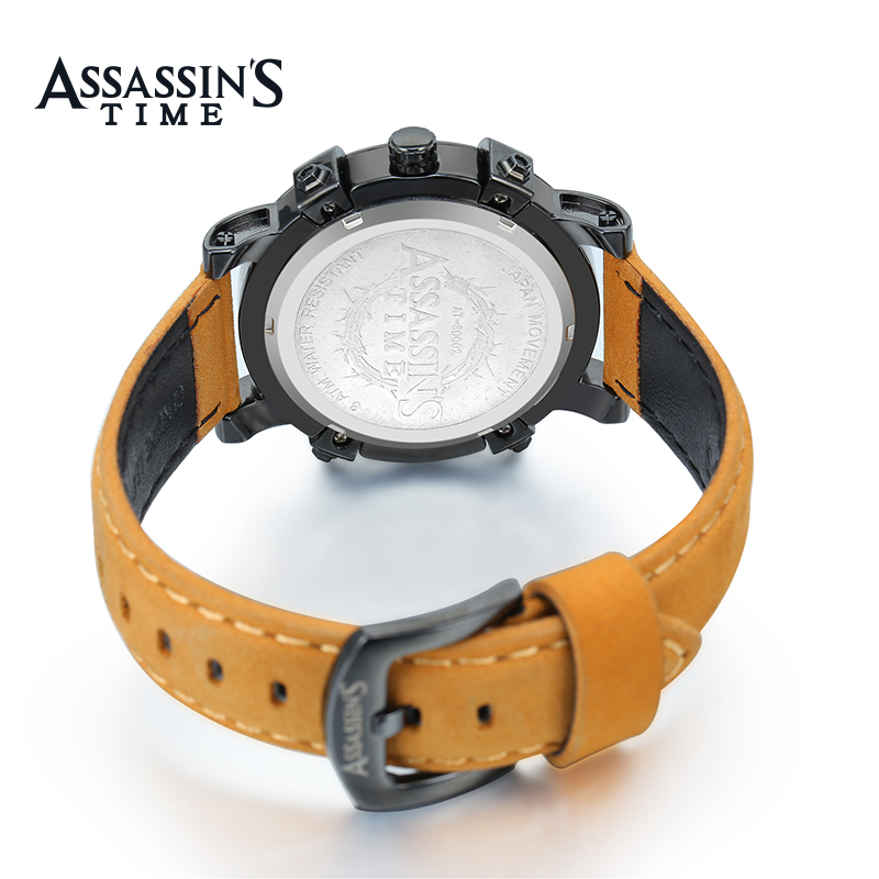 Assassin's Time Mærke Sport Watch Mænd Quartz Watch Luksus Sort - Mænds ure - Foto 5