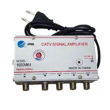 4 пути CA ТВ кабель ТВ усилитель сигнала усилитель антенны Набор сплиттеров широкополосного домашнего ТВ оборудования 20DB 45MHz~ 880(Eueope Plug