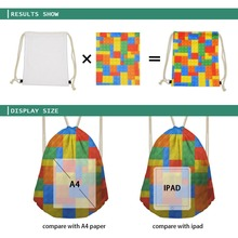 African Print Drawstring Bag/Daypack for Children and Teenagers