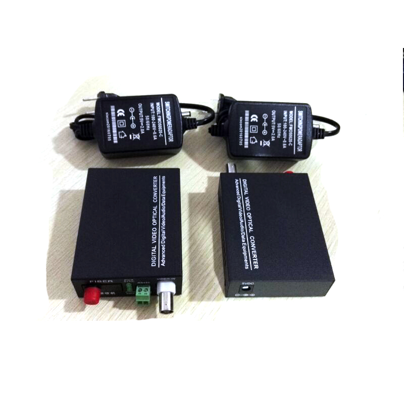 1 Pair 2 Pieces/lot 1 Channel Video Optical Converter 1V1D Fiber Optic Video Optical Transmitter & Receiver 1CH +RS485 Data