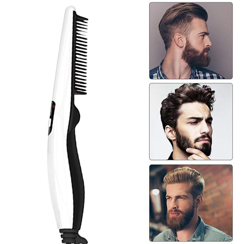 Men Beard Straightener Straightening Comb Quick Brush For Men Multifunctional  Mini Damp Bart Beard Comb Curler Show Cap Tool