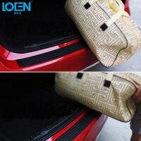 1PCS Rubber Car Rear Bumper Sill Protector Plate Boot Rear Trunk Sticker Anti Scratch For BMW