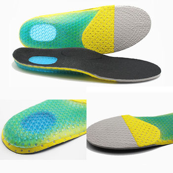 1pair Silicone Gel Sports insoles Running Massage Pain Relief Support Shoes Insoles Pads Cushion Shoes Insoles