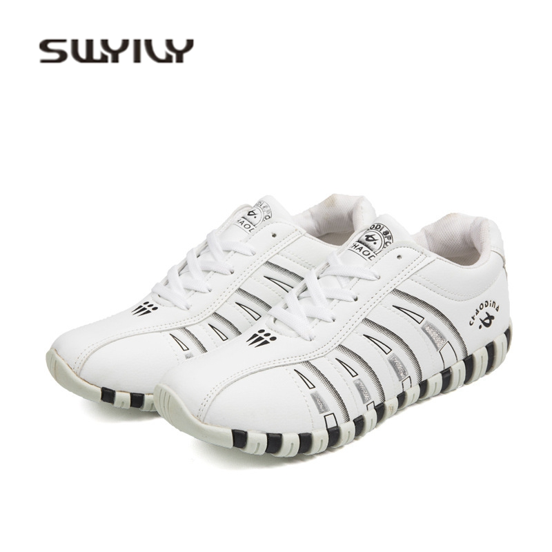 SWYIVY Woman Casual Shoes Breathable 2018 Shallow Mouth Woman Sneakers Shoes White Comfortable Students Outdoor Sneakers Woman41 swyivy women sneakers light weight 2018 41 woman casual shoes slip on lazy shoes comfortable candy color breathable net shoe