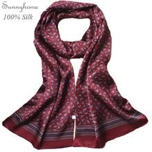 Хомут-бандана чистого сатина шелковые шарфы для мужчин двусторонний бренд шарф Осень Зима Стиль Мода обертывания и шали