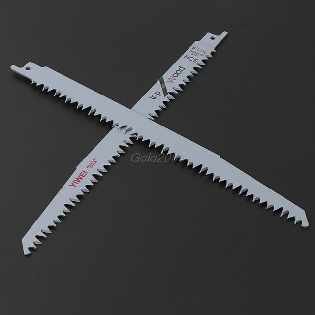 "2pcs S1531L ลูกสูบ SABER SAW ใบมีด 9.5 ""240 มม.สำหรับตัดโลหะไม้ R06 ขายส่ง & DropShip"