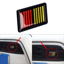 1set 3D Ralliart Stripe Bar Grille Car Sticker for Mitsubishi Logo Emblem Badge Auto Front Grill Waterproof Decorative Stickers