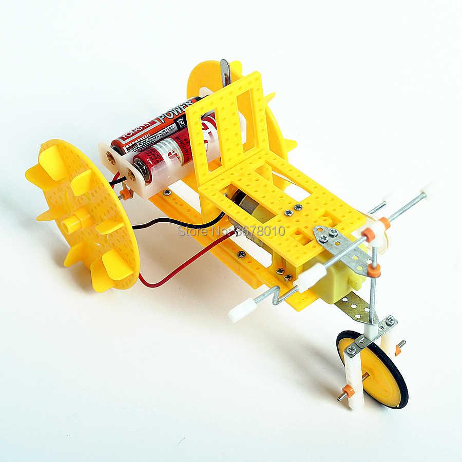 Bricolage électrique pédales Tricycle modèle Kits science et technologie physique assemblage expérience éducatif tige jouets pour les écoliers