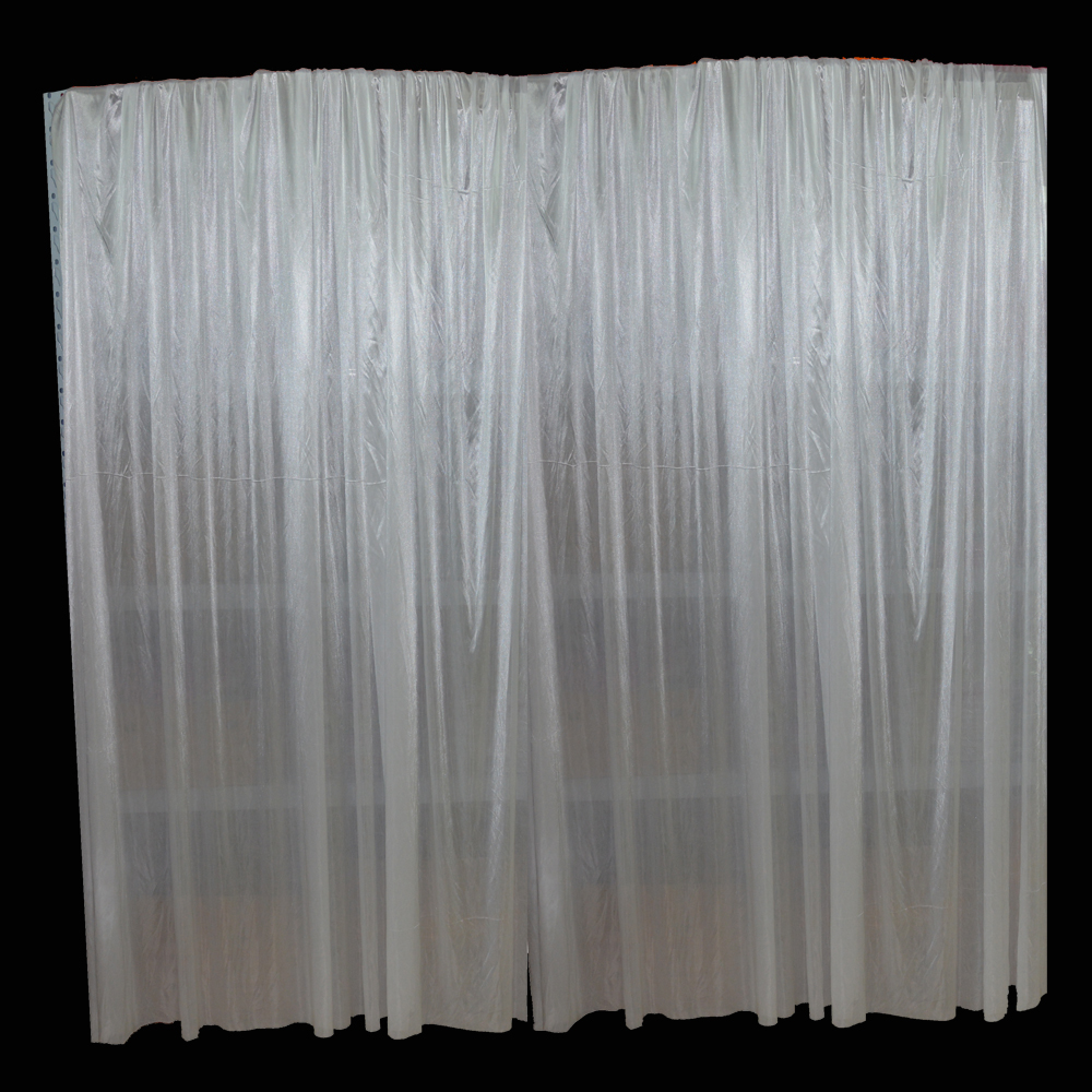 10x10ft White Wedding Backdrop Curtain Wedding Birthday Party Background Pipe And Drape Backdrop Leather Bag
