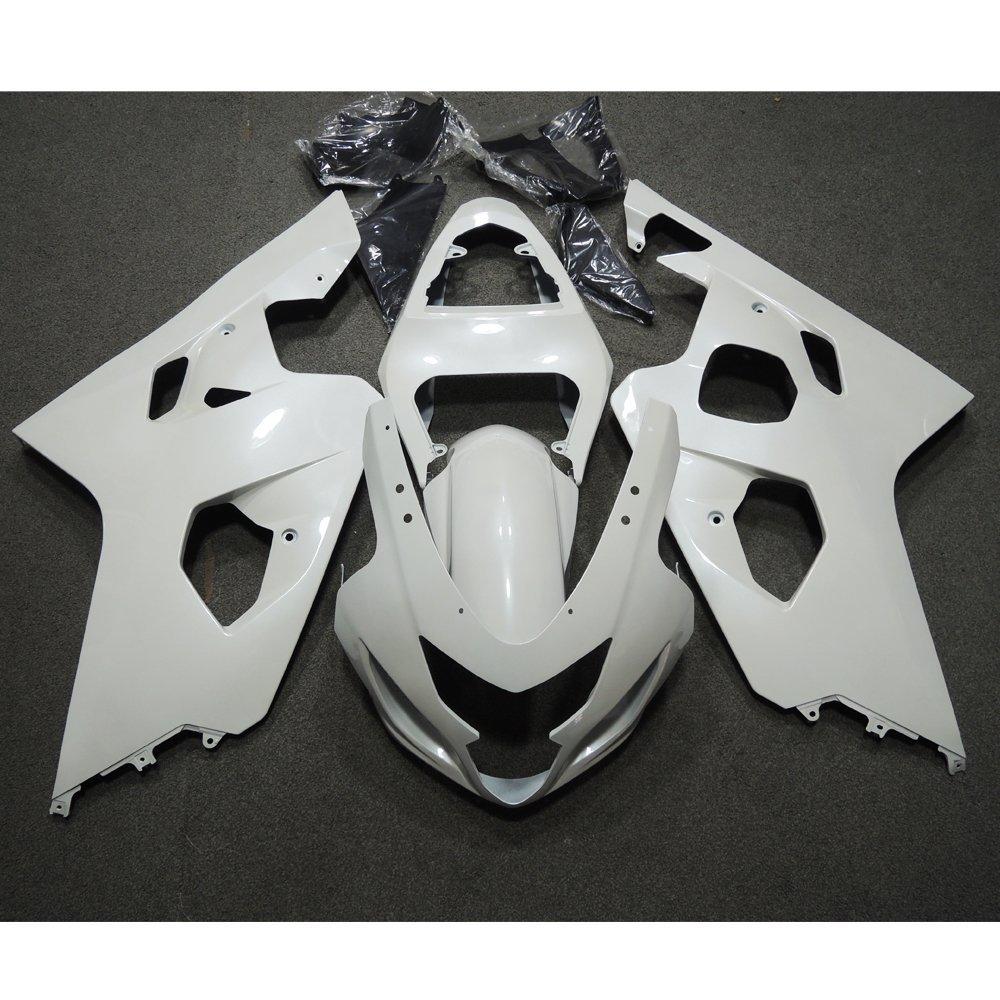 Motorcycle Injection Fairing For Suzuki GSXR 600 750 GSXR600 GSXR750 K4 2004 2005 GSX-R750 04 05 Fairings Kit Bodywork White