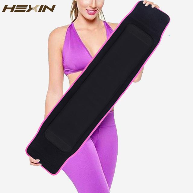 HEXIN Shaper Do Corpo Emagrecimento Cintura Cinto Trainer Treino Suor Quente Fajas Reductoras Respirável Compressão Cincher Cintura Silhueta