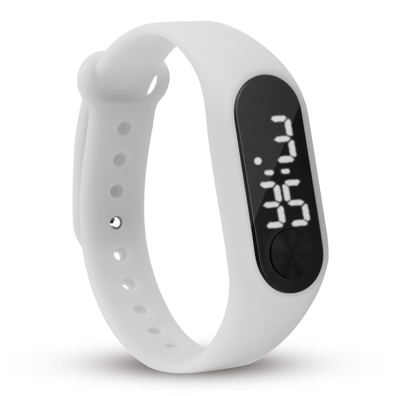 Fashion Men Women Casual Sports Bracelet Watches White Led Electronic Digital Candy Color Silicone Wrist Watch For Children Kid# Reputation First Watches