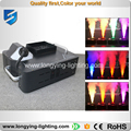 Free shipping 4pcs/lot 24x3w RGB Dmx512 Spraying Pyro Vertical 1500W LED Fog Machine