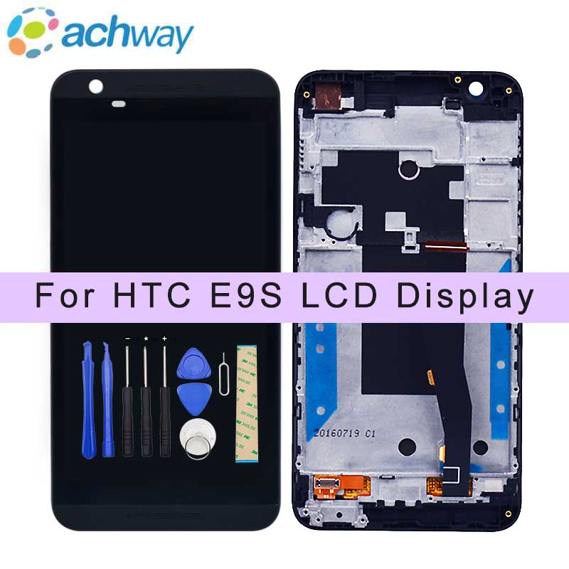 Black New For HTC E9S LCD Display Touch Screen Digitizer with Frame + Tools 1280x720 Assembly Replacement Parts for htc e9s lcdBlack New For HTC E9S LCD Display Touch Screen Digitizer with Frame + Tools 1280x720 Assembly Replacement Parts for htc e9s lcd