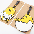 Cute Gudetama  creative silicone luggage tag pendants hang tags checked brand tourist products KT2695