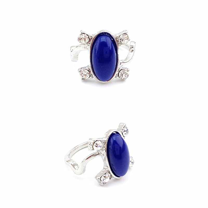 Gratis verzending dame blauwe steen diamante zilveren kleur de vampire diaries Elena katherine ring fijne sieraden vrouwen