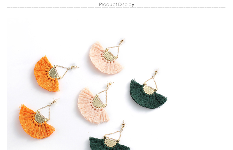 AYAYOO Long Drop Yellow Tassel Earrings Boho Bohemian Dangling Earrings For Women Ethnic Fringe Earring Party Jewelry (1)