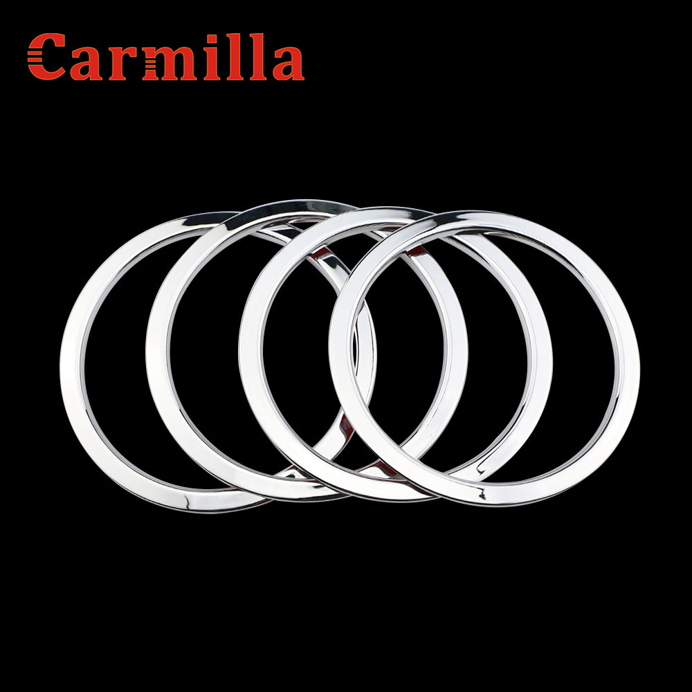Carmilla Car Styling ABS Chrome Door Speaker Ring Cover Speaker Decoration Trim For Nissan X-TRAIL Xtrail X trail T32 2013-2017 abs chrome door stereo speaker ring cover fit for x trail rogue xtrail t32 2014 2015 speaker decoration trim accessories