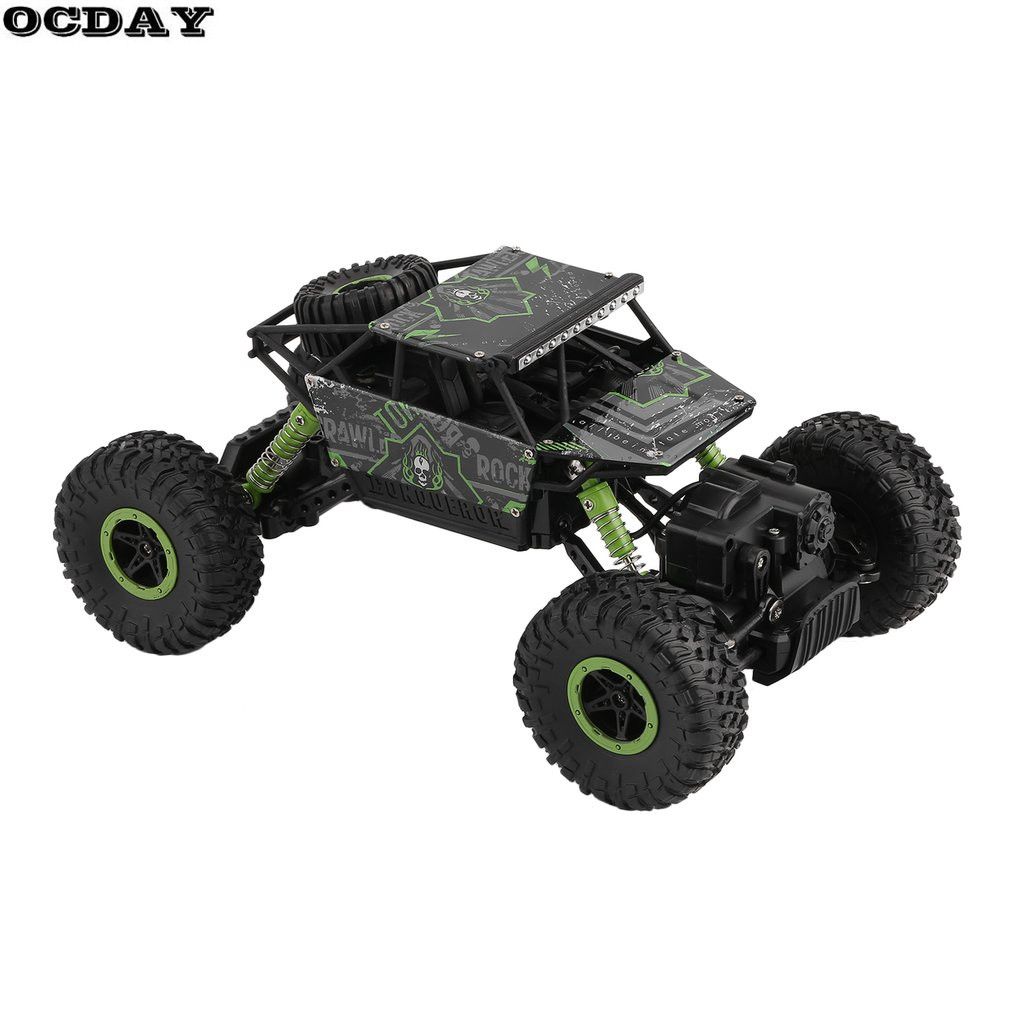 OCDAY 2.4G RC Car 4CH 4WD Rock Crawlers Driving Car Double Motors Drive Remote Control Car Model Off-Road Vehicle Toy