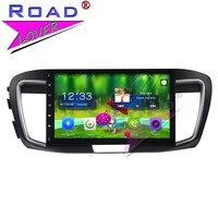 Topnavi Android 6.0 2 г + 32 ГБ 10.1 дюймов автомобиля GPS навигации головное устройство для Honda Accord 9 2.0l 2016 стерео два DIN плеер no DVD MP4