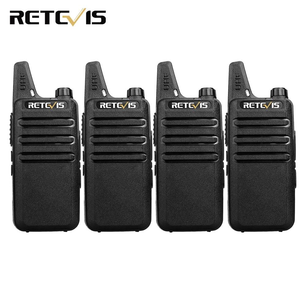 4 pcs Handy Walkie Talkie Retevis RT22 2 W 16CH UHF CTCSS/DCS VOX Scansione Ham Radio Transceiver Hf portatile 2 Way Radio Comunicador