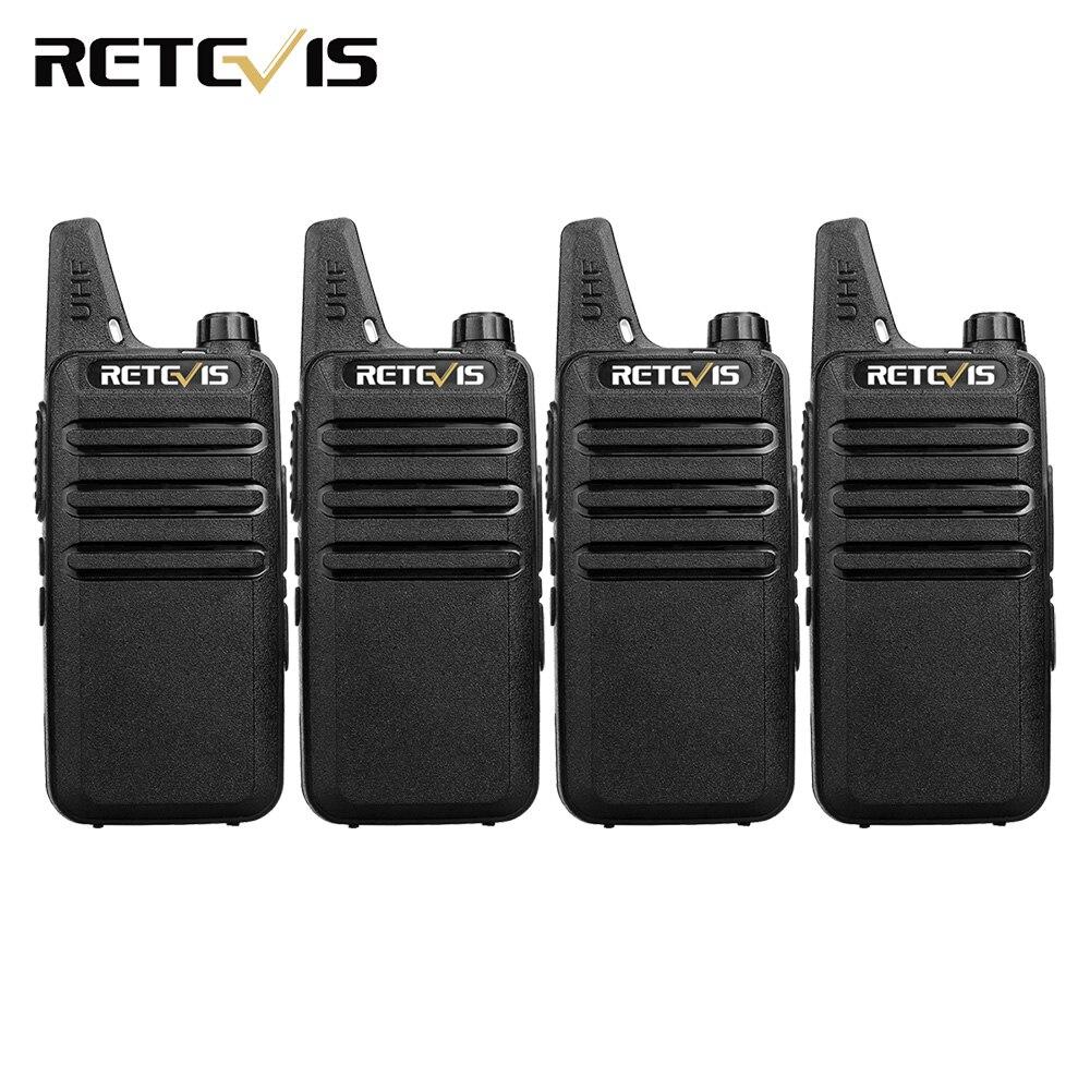 4 piezas de mano Walkie Talkie Retevis RT22 2 W 16CH UHF CTCSS/DCS VOX escanear Radio transceptor Hf radio portátil de 2 vías de Comunicador