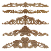 Woodcarving Furniture Vintage Home Decor Garden Decoration Maison Accessories Solid Wood Applique Carved Flower Piece Miniature 1