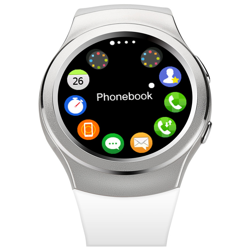 100 Original No 1 G3 Bluetooth Smart Watch MTK2502c IPS screen SIM card Hear Rate Monitor