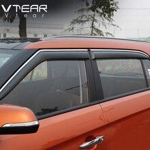 Creta Vtear Para Hyundai ix25 ventana visor deflectores de ventana lateral cubierta ABS cuerpo Exterior productos de decoración accesorios 2015-17