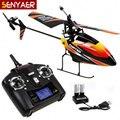 Venda quente versão Atualizada WL V911 rc helicóptero (vermelho azul e orange) 2.4g 4ch único blade propeller rc toys modelo de ar quente toys