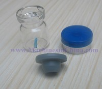 100pcs 1ml Glass Bottle With 13mm Rubber Stopper And Flip Off Cap