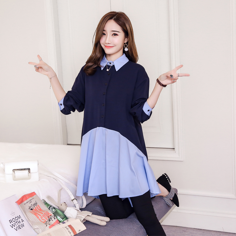 Maternity Shirts Novelty Blouses Pregnancy Clothes Maternity Clothing Of Pregnant Women Fashion Long Sleeve Tops Shirts gbtiger black