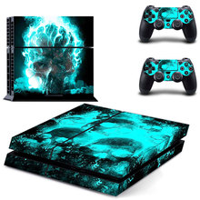 PS4 Skin for Playstation 4 Aufkleber Sticker Set + 2 Controller Skins Skull