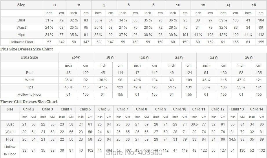 size -chart