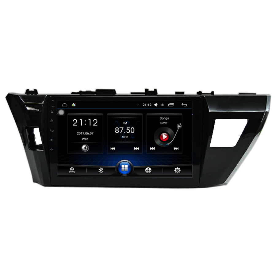 10.2 Android 6.0 Car Radio GPS Navigation Player 1.6GHz Quad Core 1GB RAM for Toyota Corolla 2014-2016 with Canbus