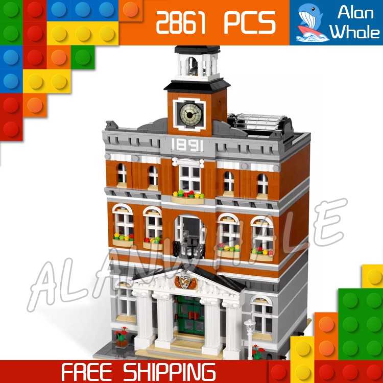 2861pcs Creator Expert Town Hall Bell Tower Construct Collection 30014 Figure Modular Building Block Toy Compatible with LegoING2861pcs Creator Expert Town Hall Bell Tower Construct Collection 30014 Figure Modular Building Block Toy Compatible with LegoING