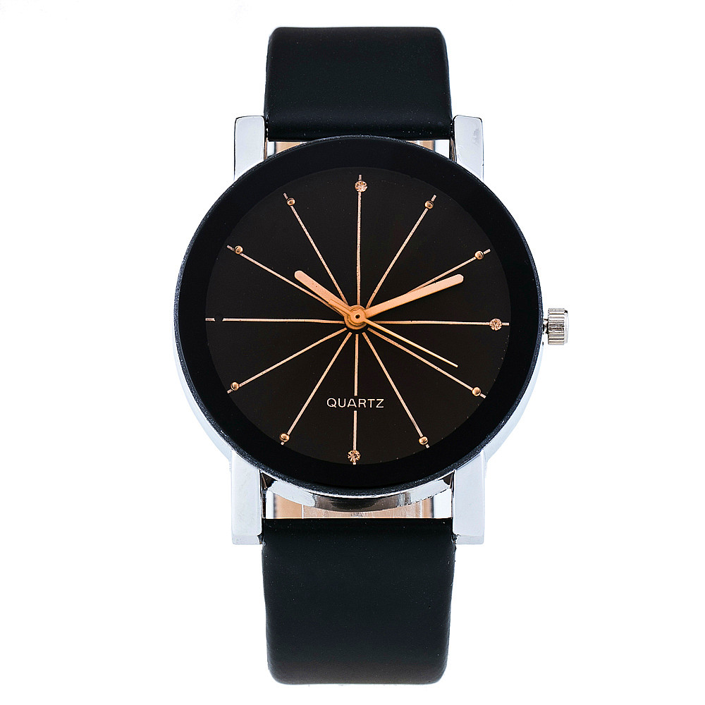 Women Analog Quartz Watch Casual Leather Wristwatch Reloj Mujer Round Case Time Clock Relogio Feminino Lady Gift 1962 vansvar follow your dreams women quartz watches reloj mujer relogio feminino leather strap wristwatch new dress watch clock