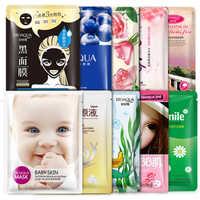 50Pcs BIOAQUA Korean Cosmetics Face Mask Skin Care Face Deep Moisturizing Whitening Nourish Oil Control Essence Sheet Mask