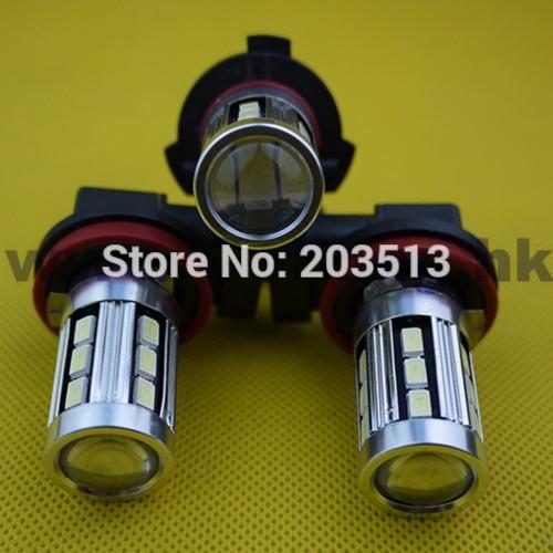 100pcs/Lot new design led fog lights for car lamp H4 H7 H8 H11 9005 9006 HB3 HB4 18 smd 5630 18 leds high power bulb white 6000K