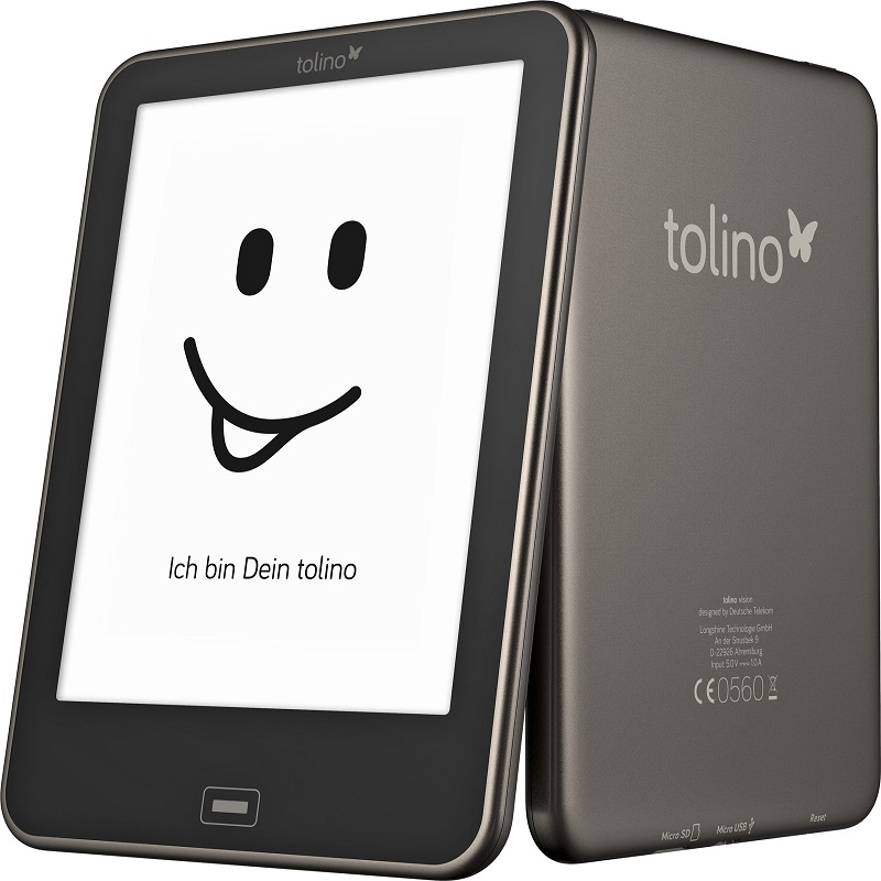 e book Reader Built In Light Tolino Vision 1 e-ink 6 inch 1024×758 HD touch screen Electronic book
