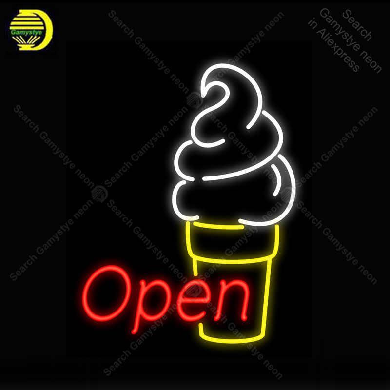 Открытым мороженое неоновый свет вывеска неоновым украшают отель стеклянной трубки пивной паб магазин Дисплей ручной работы знаковых знак огни